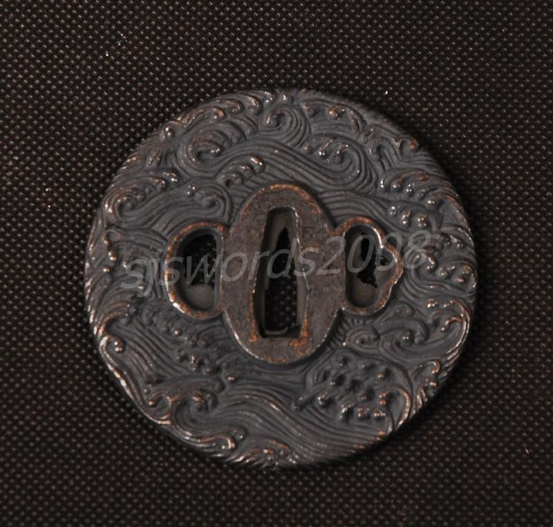 Alloy Tsuba For Japanese Samurai Sword Katana Wakizashi Sj035