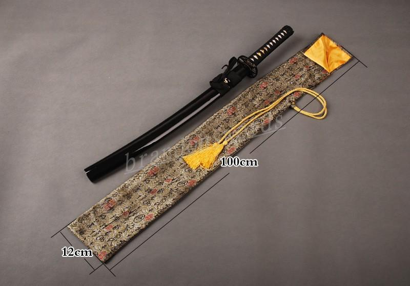 Japanese Samurai Sword Wakizashi Good Quality Nice Chinese Characters Sword Bag
