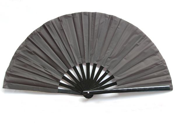 5pcs Lot Chinese Tai Chi Martial Arts Kung Fu Bamboo Fan All Black 34cm