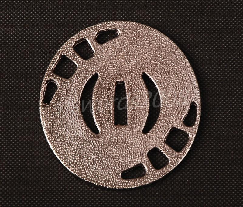 Round Tsuba For Japanese Sword Alloy Guard Silver Color Sj028