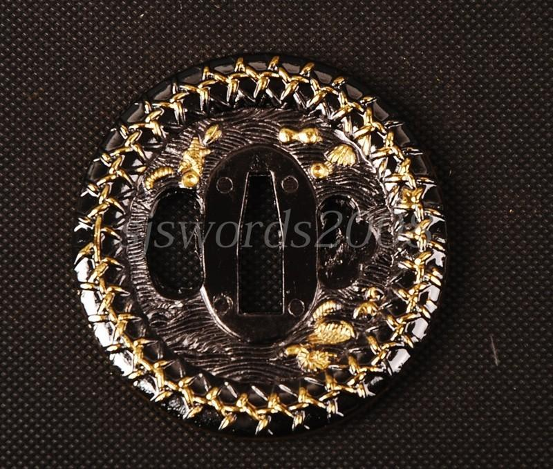 Round Tsuba Plate For Japanese Sword Katana Wakizashi Alloy Cool Design Hj019
