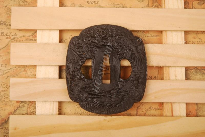 Iron Tsuba Hand Guard For Japanese Samurai Sword Knives Katana Wakizashi Ht107