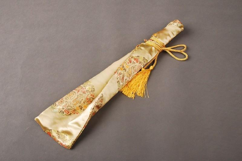 Silk Bag Gold Lucky Design For Japanese Samurai Sword Warrior Tanto Knives Qdx6