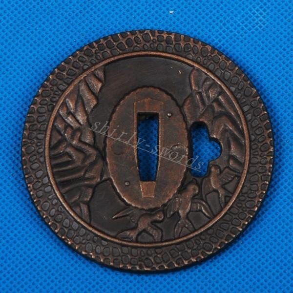 Alloy Tsuba For Japanese Samurai Katana Or Wakizashi Or Tanto Sword Hj47