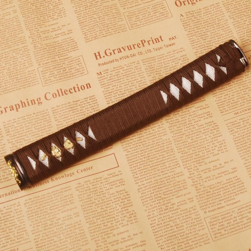 Samurai Sword Japanese Katana Sword Handle Tsuka Battle Wrapped Fuchi Menuki H18