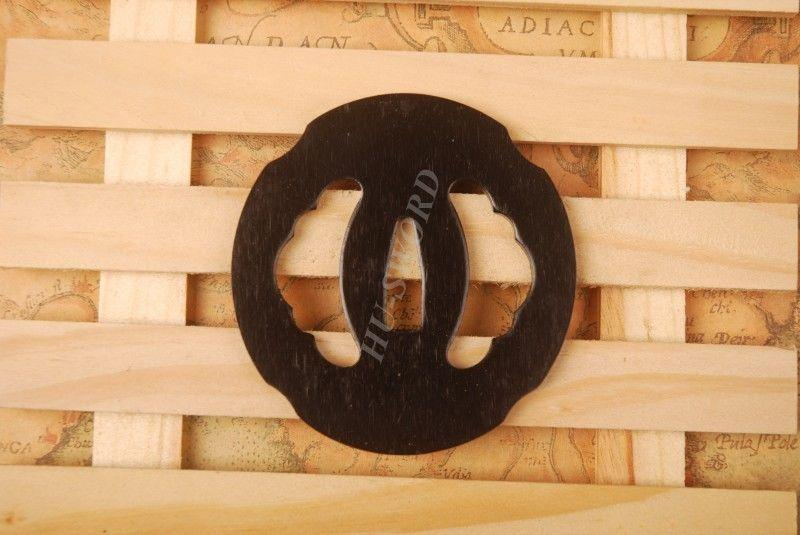 Iron Tsuba Hand Guard For Japanese Samurai Sword Knives Katana Wakizashi Ht018